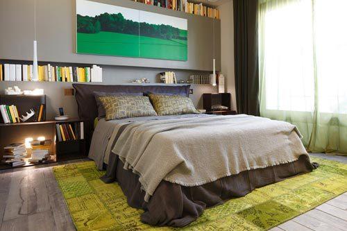 Slaapkamer met wandkast
