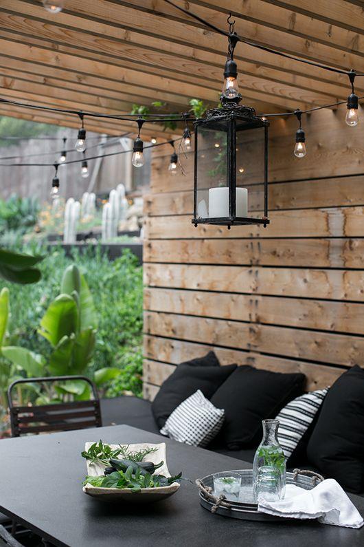 Slinger verlichting in de tuin