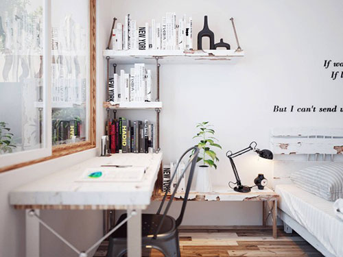 Sloophout in slaapkamer | Interieur inrichting