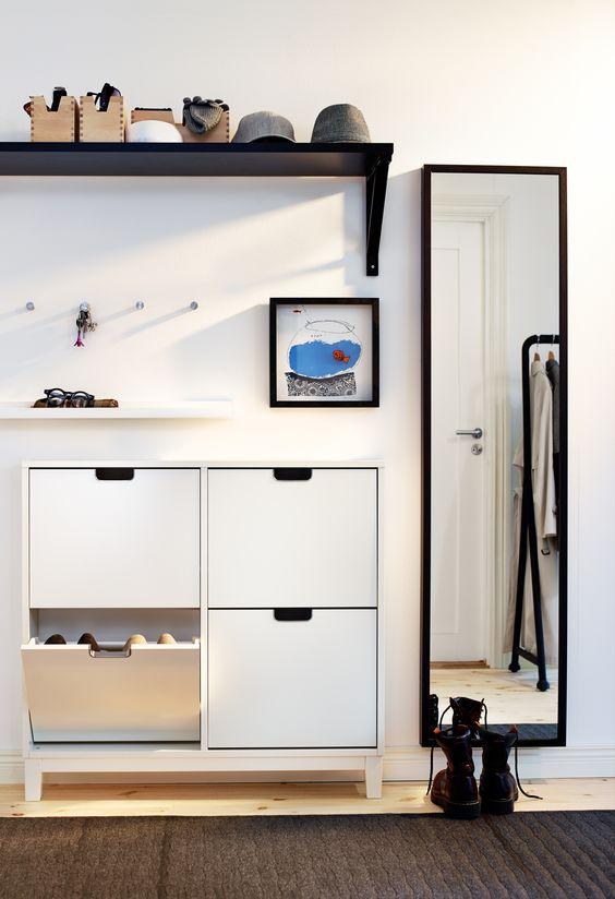 Smalle IKEA STÄLL schoenenkast