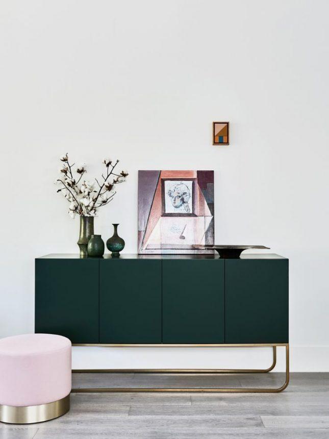 smaragdgroene dressoir