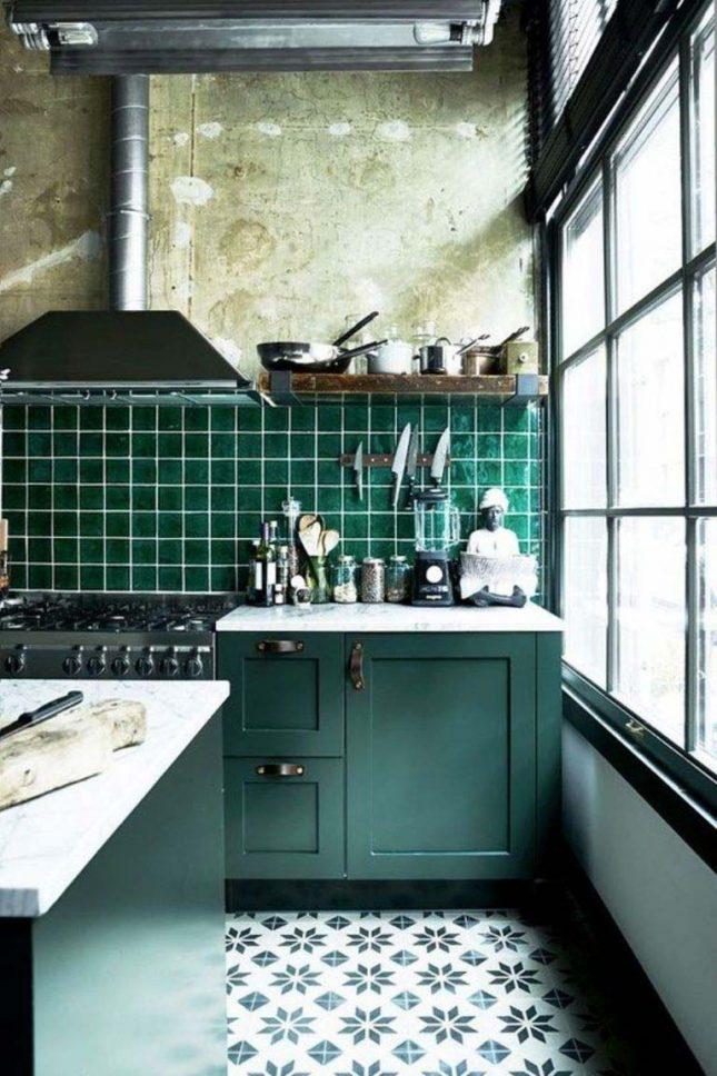 smaragdgroene keuken