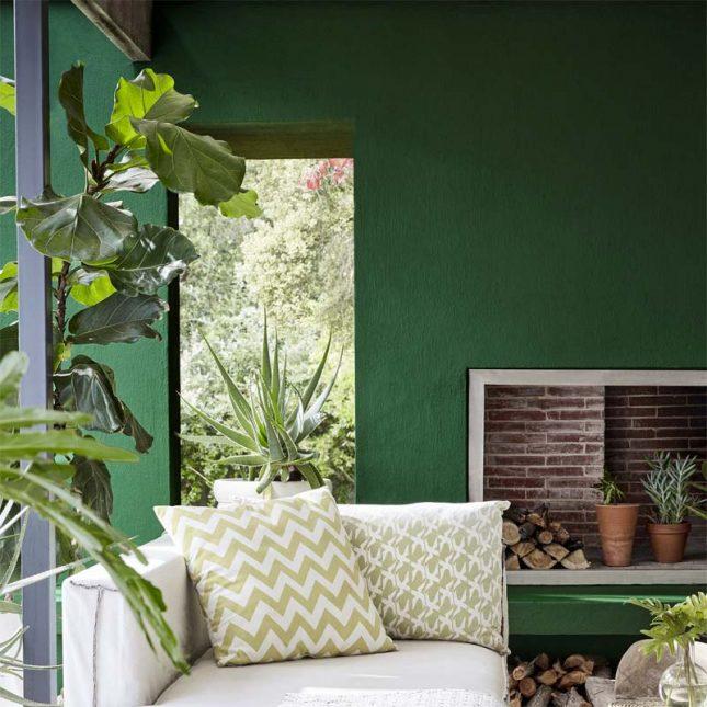 smaragdgroene muur little green muurverf