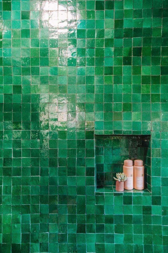 smaragdgroene zeliges tegels