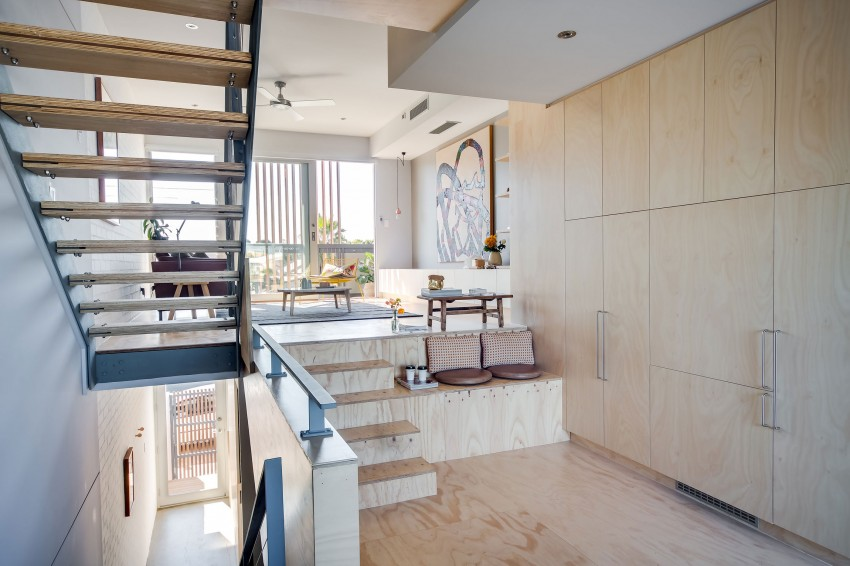 Speelse Interieur Inrichting : Speelse moderne woonkamer met underlayment interieur inrichting