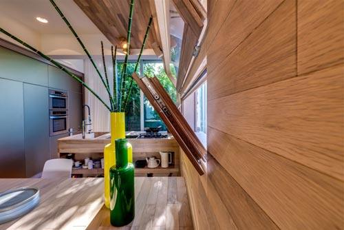 Brandblokken In Interieur : Zwart witte scandinavische woonkamer interieur inrichting