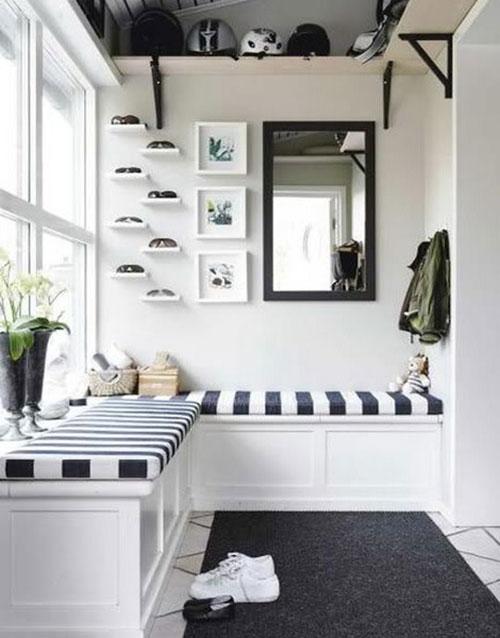 Spiegel voor de hal interieur inrichting - Spiegel voor ingang ...