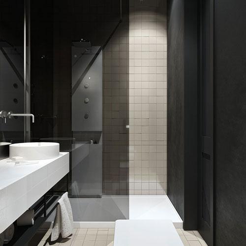 Spiegelwand in badkamer ontwerp interieur inrichting for Badkamer artikelen