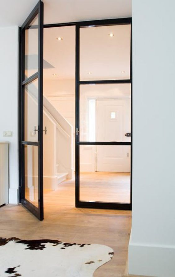 Favoriete Stalen deur tussen hal en woonkamer of keuken | Interieur inrichting #AM71