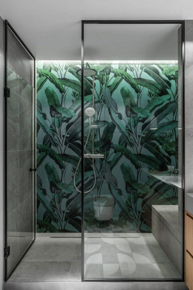 stalen douchewand met deur
