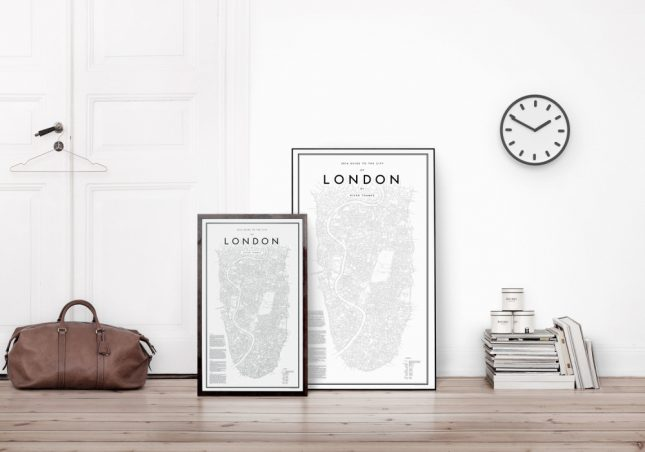 Steden plattegrond posters