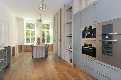 Steigerhout in keuken