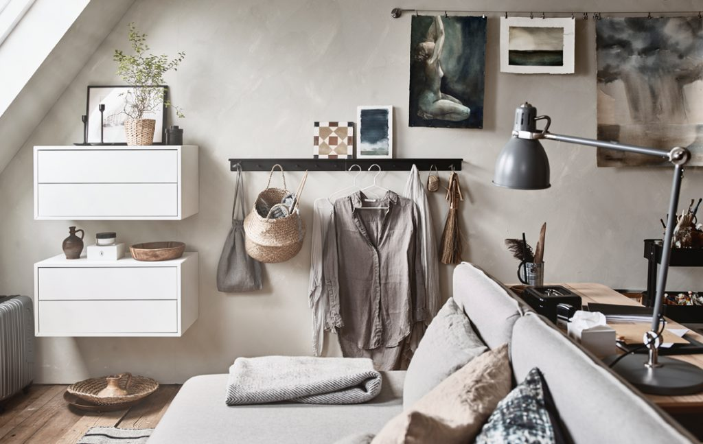 Stijlvol eenkamerappartement door IKEA