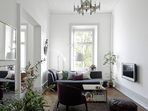Klein Appartement Inrichting : Stijlvol verbouwd klein appartement interieur inrichting