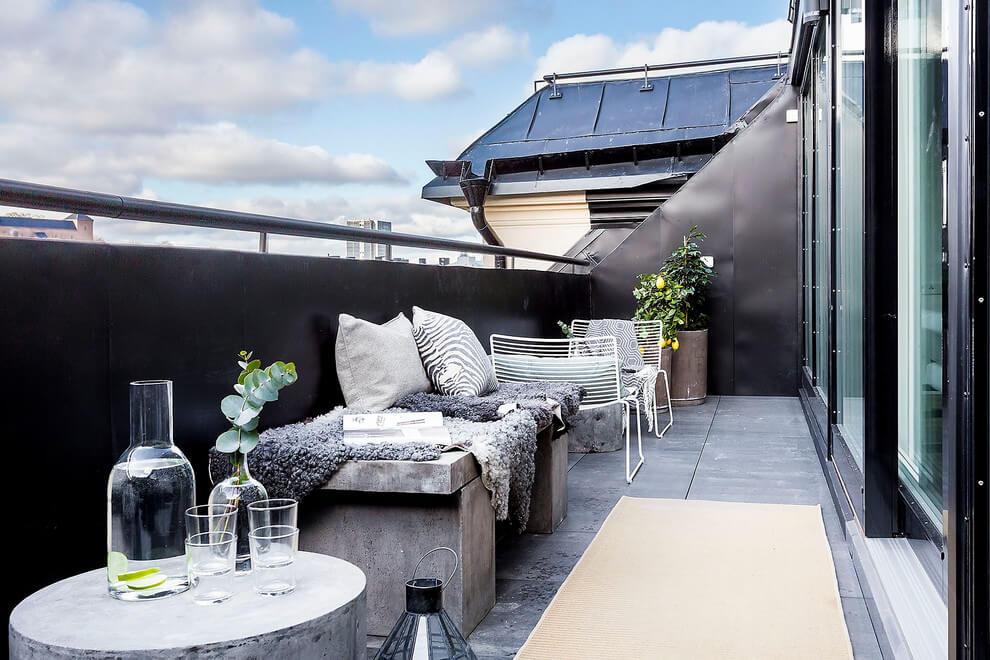 Stoer Breed Balkon Interieur Inrichting