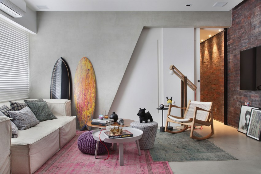 Stoer, stijlvol en praktisch ingericht appartement