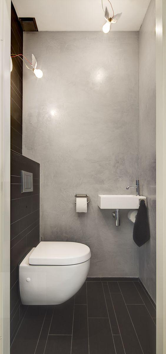Stoer toilet met combi van tegels en tadelakt interieur inrichting - Wc muur tegel ...