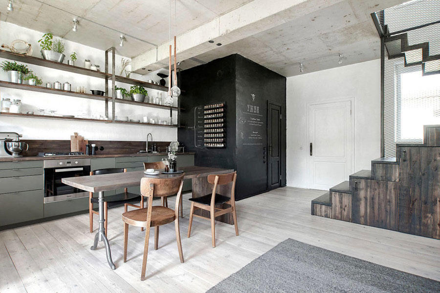 Stoere industriële keuken door INT2 architecture