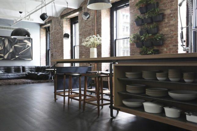 Stoere open loft keuken uit new york interieur inrichting - Keuken industriele loft ...