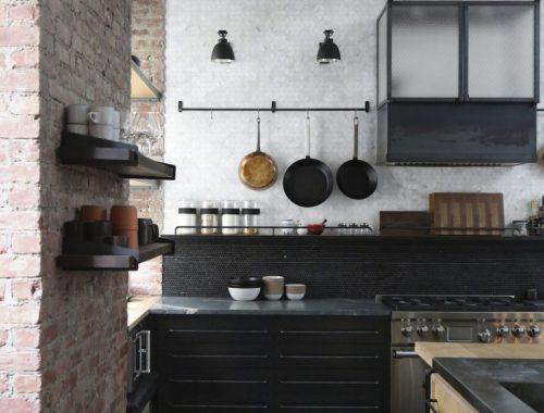 Stoere open loft keuken uit New York