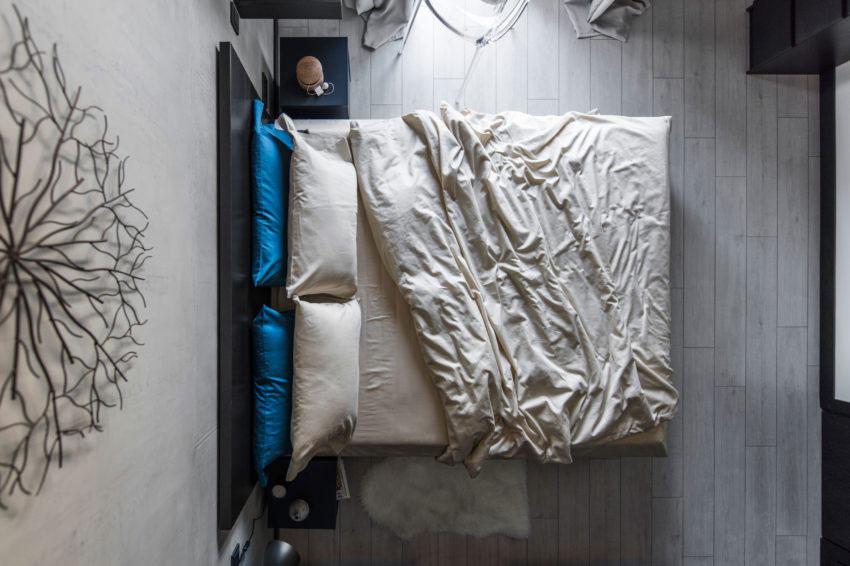Stoere slaapkamer met een industrieel tintje