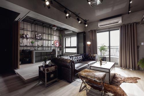 Stoere woonkamer met open kantoorinterieur inrichting for Inrichting interieur