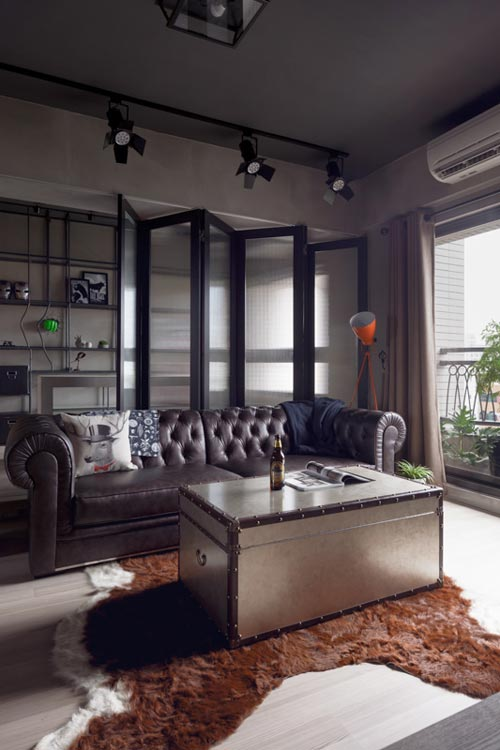 Stoere woonkamer met open kantoorInterieur inrichting | Interieur ...