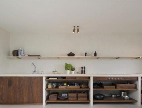 Strakke keuken met een warme zachte uitstraling