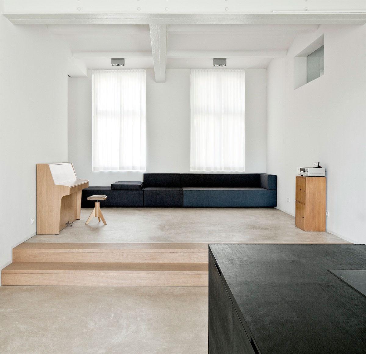 Strakke minimalistische woonkamer interieur inrichting for Interieur inrichting
