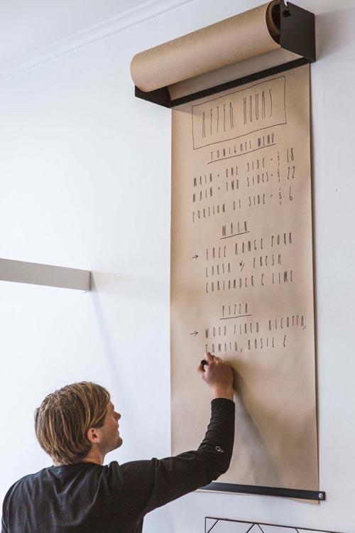 Studio Papier Roller Aan De Muur Interieur Inrichting
