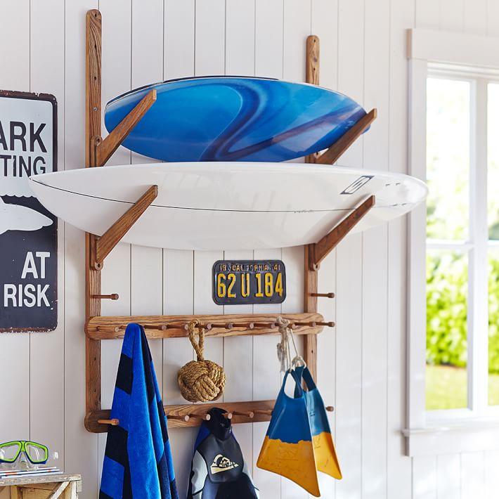 Surfboard in huis