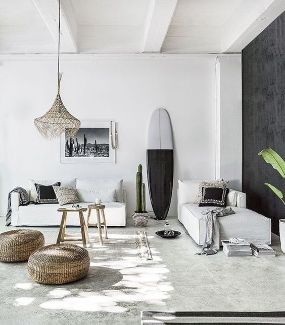 Surfboard in huis