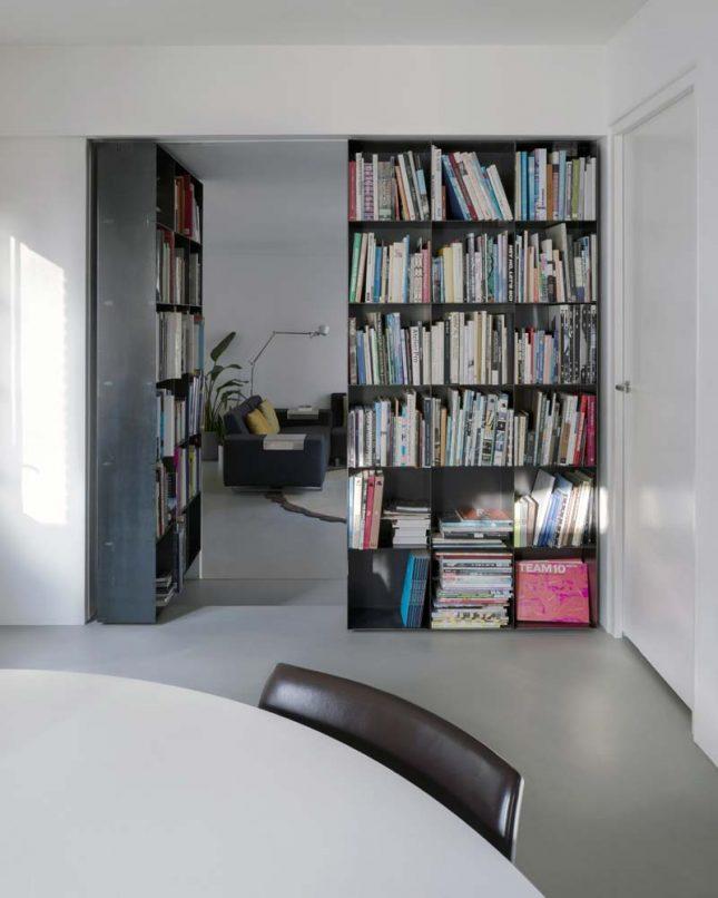 taatsdeur boekenkast scheidingswand
