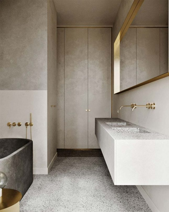 tadelakt muren mooie badkamer