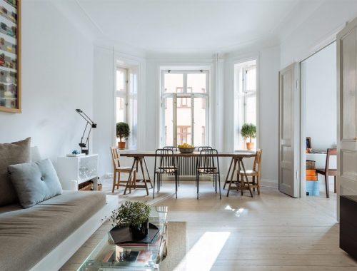 Taupe in een Scandinavisch interieur