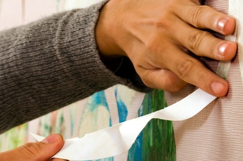 Tear off behang van znak interieur inrichting - Tear off wallpaper by znak ...