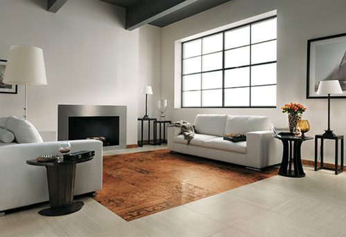 Tegels in woonkamer