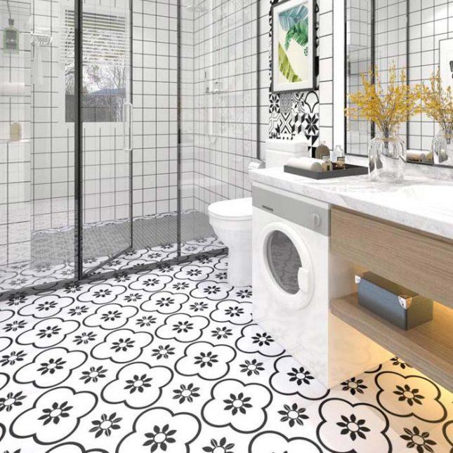 Tegelstickers badkamer