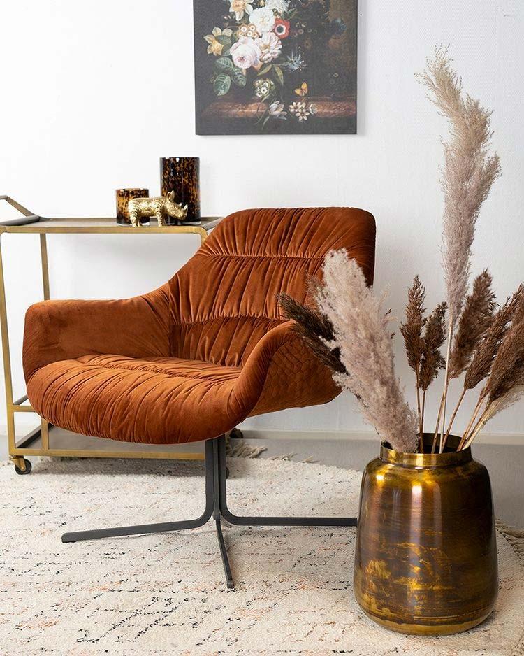 terracotta fauteuil