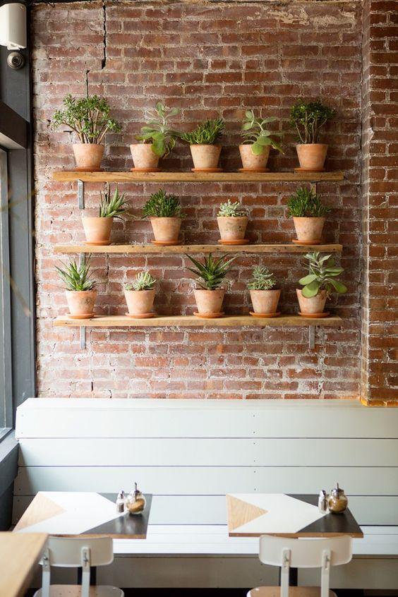 terracotta-potjes-planten-planken