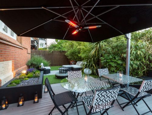 Terrasverwarmer voor tuin
