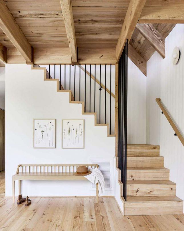 teveel houten elementen interieur