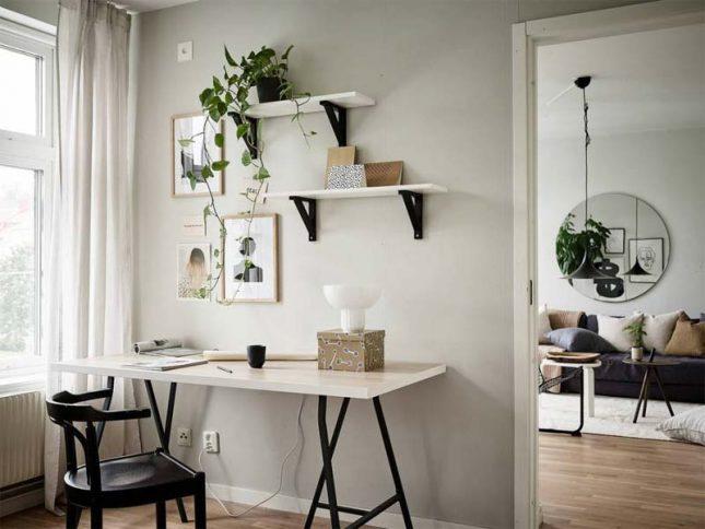 thuiswerkplek inrichten tips planten