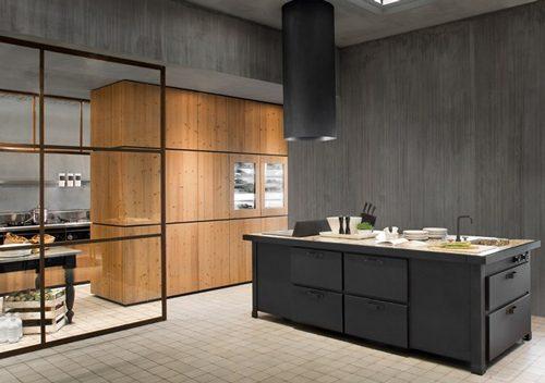 tijdloze zwarte keuken van Minacciolo