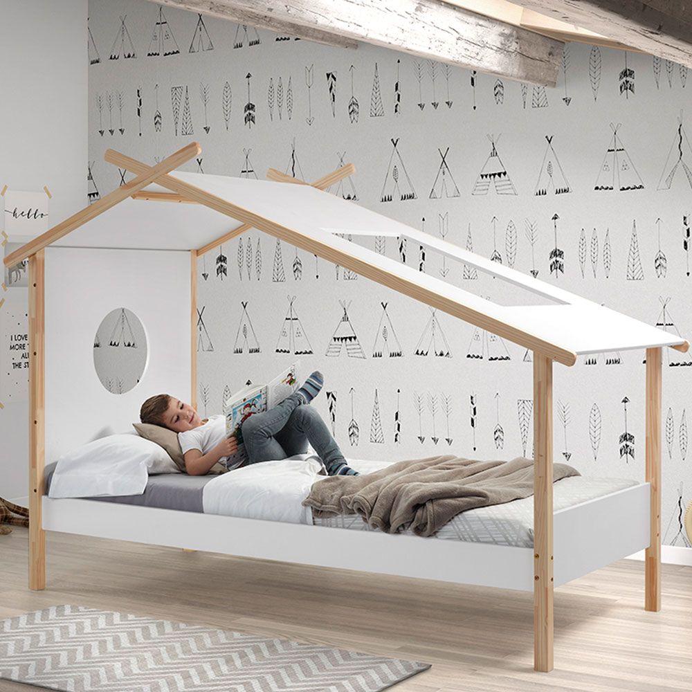Combinatie tipi tent en bed