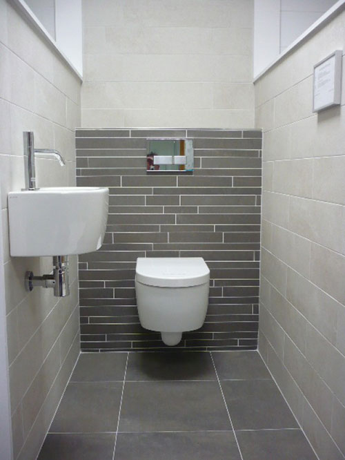 Toilet idee n interieur inrichting for Wc fliesen modern