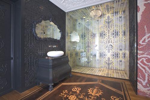 toilet met mozaïek tegels kunstwerk  interieur inrichting, Meubels Ideeën