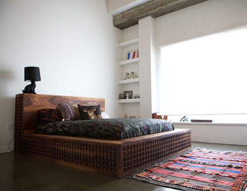 Traditioneel Chinees Bed : Traditioneel chinees bed interieur inrichting