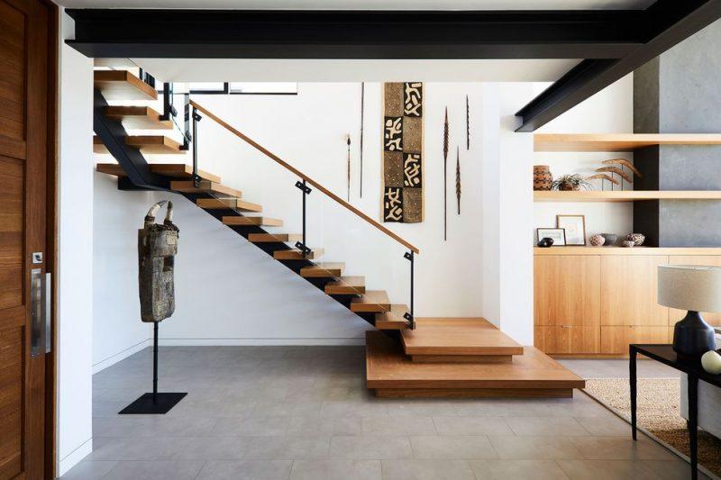 trap ideeën moderne stalen houten trap glazen trapbalustrade