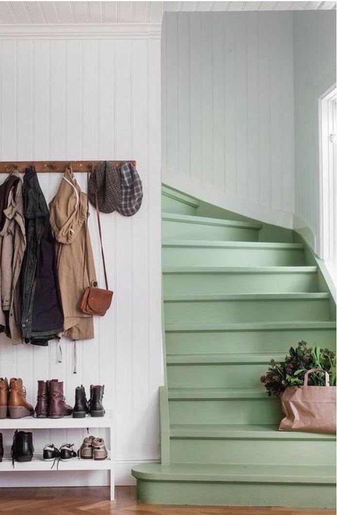 trap ideeën trap - deze mooie trap is geverfd in een mooie groene kleur